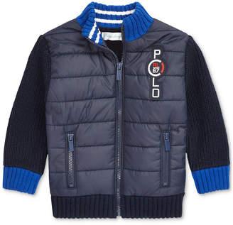 Polo Ralph Lauren Baby Boys Quilted Full-Zip Sweater