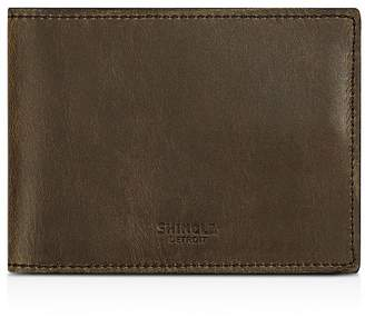 Shinola Distressed Slim Bifold Wallet