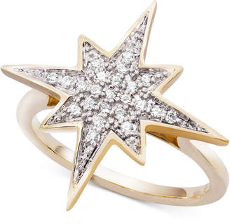Wrapped WrappedTM Diamond Cluster Star Ring (1/6 ct. t.w.) in 10k Gold, Created for Macy's