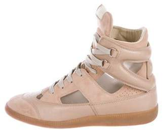Maison Margiela Suede Round-Toe Sneakers
