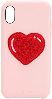 Cherry Leather Iphone X Cover