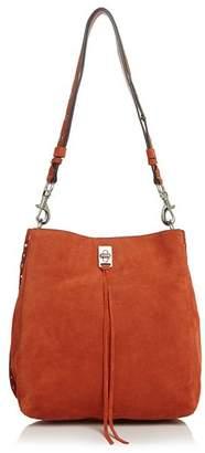 Rebecca Minkoff Darren Studded Suede Shoulder Bag