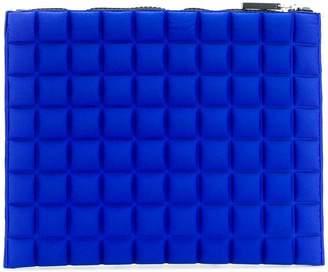 NO KA 'OI No Ka' Oi medium grid textured pouch