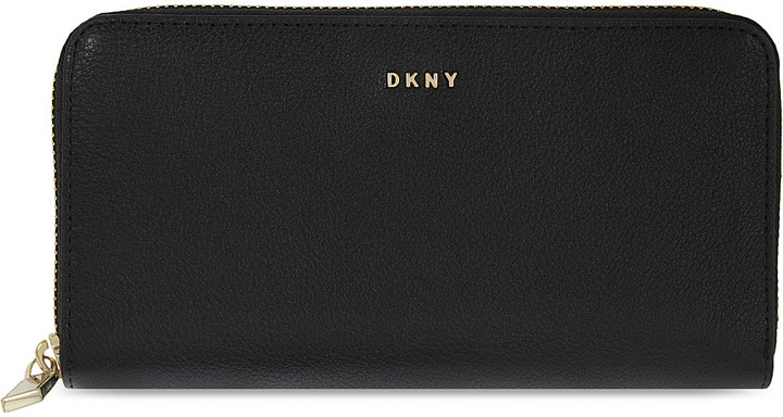 DKNYDkny Zip-around large leather wallet