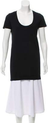 James Perse Short Sleeved Scoop Neck Top