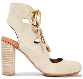 See by Chloe Edna Lace-up Suede Ankle Boots