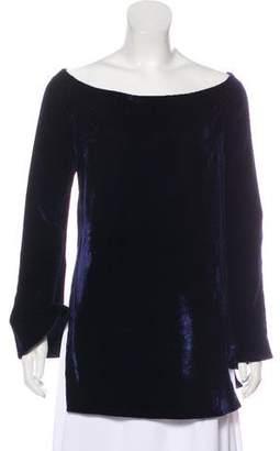 Ellery Velvet Off-The-Shoulder Top