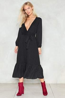 Nasty Gal Dot Shot Midi Dress