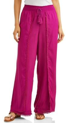 4aa756970454a Time and Tru Women's Fray Edge Long Pant