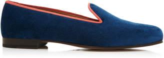 Stubbs & Wootton M'O Exclusive Kingfisher Velvet Slippers