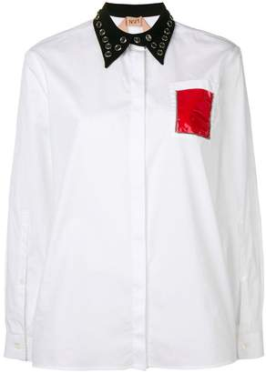 No.21 embellished shirt