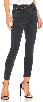 RE/DONE Originals High Rise Ankle Crop with Stretch.