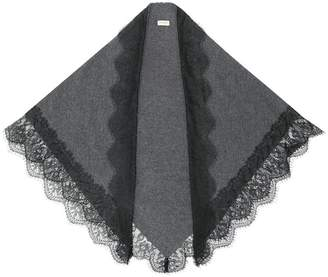 Twin-Set lace hem scarf