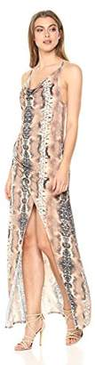 Haute Hippie Women's Sidewinder Cowl Maxi Dress