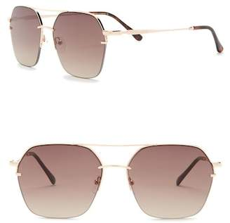 Vince Camuto Semi Rimless Metal Aviator Sunglasses