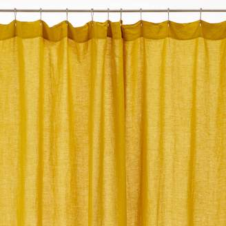 Michele Keeler Lissoy Linen Shower Curtain Chartreuse