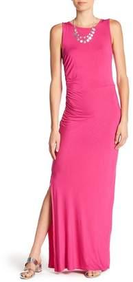 Bobeau Ruched Maxi Dress