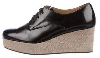 Castaner Leather Platform Oxfords