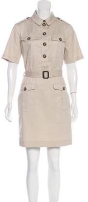 Burberry Belt-Accented Mini Shirtdress