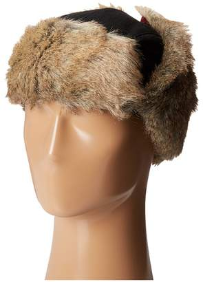 Woolrich Wool Blend Trapper with Faux Fur Lining Caps