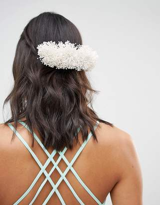 Asos Design DESIGN Bridal Faux Gypsophila Back Hair Comb