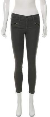 Current/Elliott Mid-Rise Soho Zip Stiletto Skinny Jeans