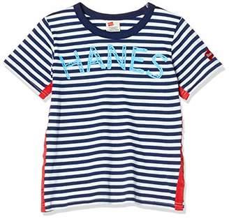 Hanes (へインズ) - [ヘインズ] 子供用 半袖Tシャツ ボーダーTシャツ HE8787 ネイビー 日本 130 (日本サイズ130 相当)