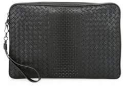 Bottega Veneta Intrecciato Woven Leather Studded Document Holder