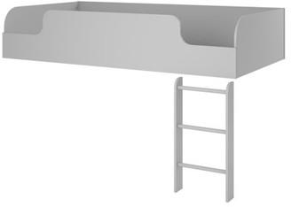 Ameriwood Home Elements Loft Bed Platform with Ladder, Gray