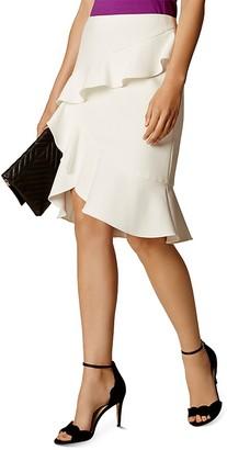 KAREN MILLEN Ruffle Skirt $170 thestylecure.com