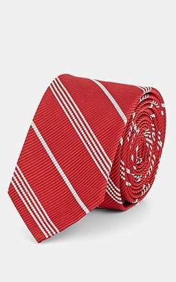 Thom Browne Men's Striped Silk-Cotton Necktie - Red