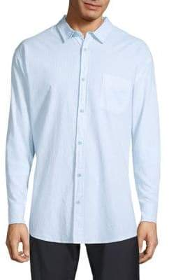 Saks Fifth Avenue Point Collar Cotton Button-Down Shirt