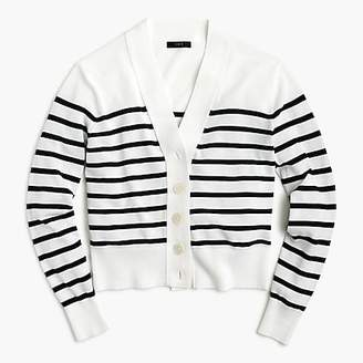 J.Crew Cropped lightweight cardigan in stripe