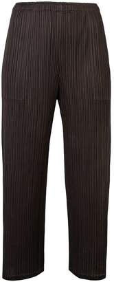 Pleats Please Issey Miyake cropped pleat trousers