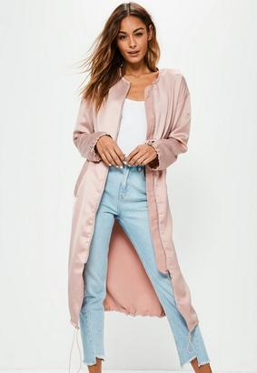 Pink Utility Silky Duster Coat $77 thestylecure.com