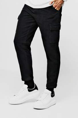 boohoo Tapered Fit Cord Cargo Trouser