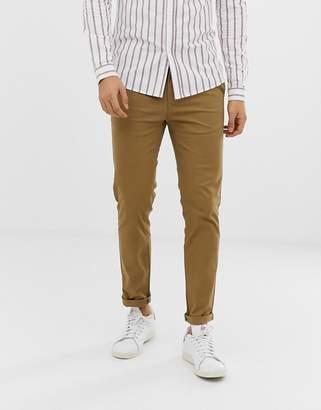 Burton Menswear skinny chinos in tan
