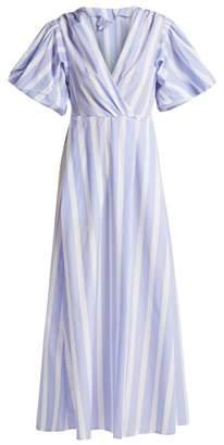 Thierry Colson Marieke Poplin Dress - Womens - Blue Stripe