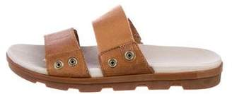 Sorel Leather Slide Sandals