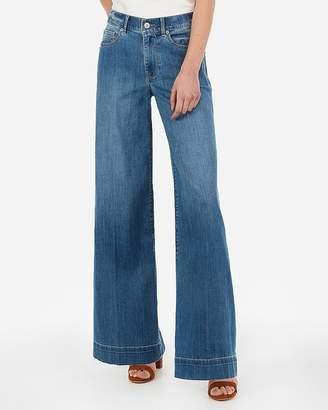 Express High Waisted Wide Leg Jeans