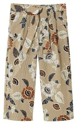 MANGO Floral palazzo trousers