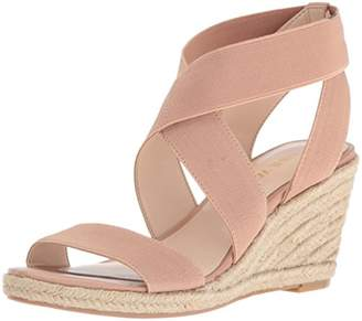Nine West Women's Jenafir Fabric Wedge Sandal