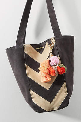 The Wolf Gang Chevron Suede Bucket Bag