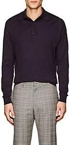 John Smedley Men's Bradwell Cotton Polo Shirt - Purple