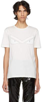 Fendi White Bag Bugs Eyebrow T-Shirt