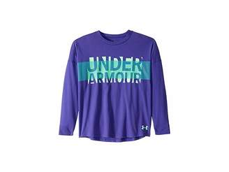 Under Armour Kids UA Overlay Branded Long Sleeve Tee (Big Kids)