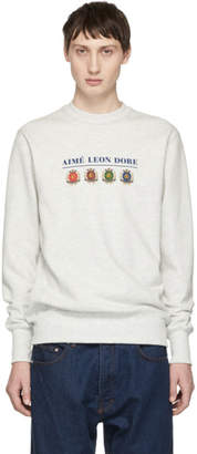 Leon Aime Dore Grey ALD Logo Crest Sweatshirt