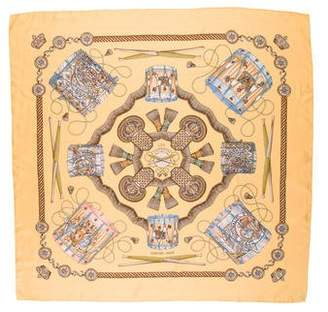 Hermes Les Tambours Silk Scarf