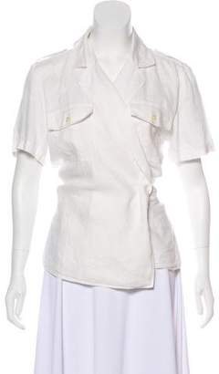 Lauren Ralph Lauren Short Sleeve Linen Top