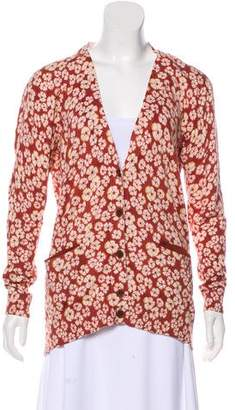 Marc by Marc Jacobs Floral V-Neck Cardigan